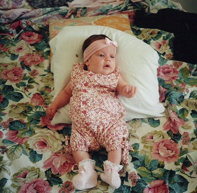 baby, cute, floral, onsie, bedcover, pink