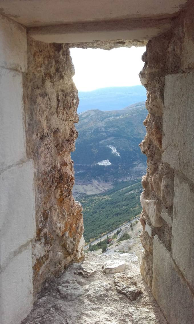 abruzzo, italy, landscape, view, mountains, window, castle, beauty, nature