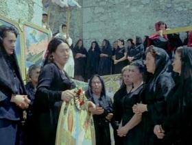 italian, italy, old, ladies, women, black, dress, neorealism, de sica, rossellini, movies, films,